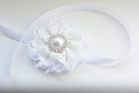 Krajková čelenka pro nevěstu či družičku ,