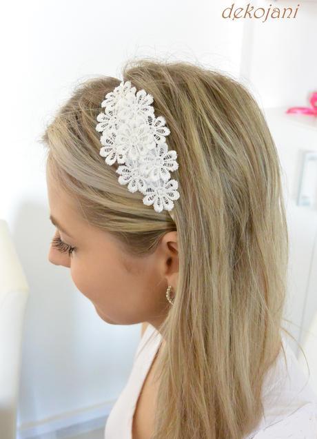 Krajková čelenka pro nevěstu, nebo družičku,