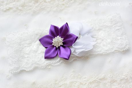 Květinová čelenka- barva na přání,