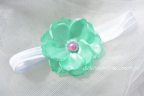 Květinová svatební čelenka,