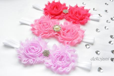 Květinová svatební čelenka pro družičku,