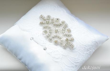 Luxusní svatební polštářek,