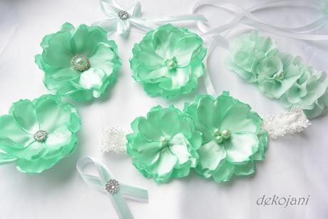 Mint green květina na pinetě,
