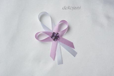 Plátěný lila polštářek pod prstýnky,