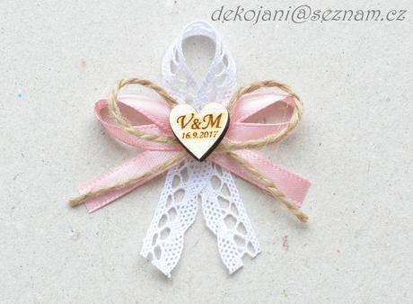 Rustikální svatební polštářek,