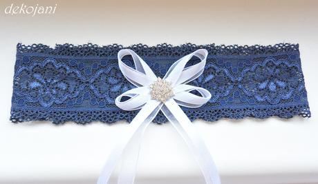 Svatební podvazek S-XXXL, M
