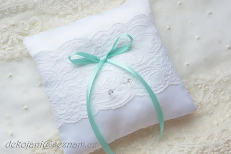 Svatební polštářek- mašle na přání,