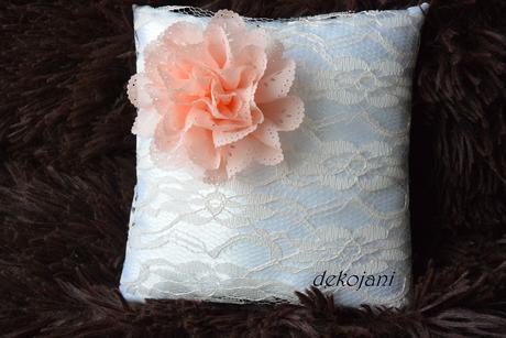 Svatební polštářek meruňkový,
