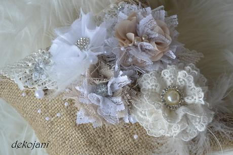 Svatební polštářek vintage ,