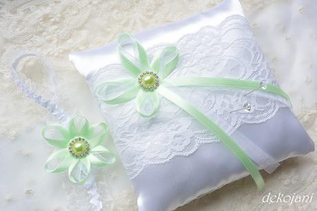 Svatební vývazky mint,