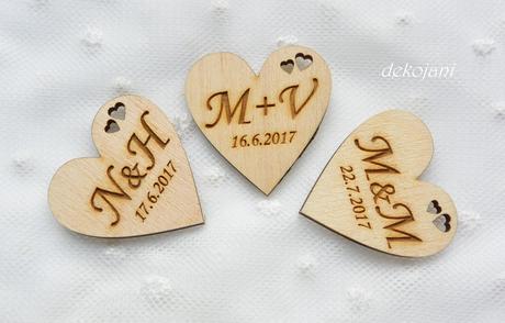 Svatební vývazky s monogramem,