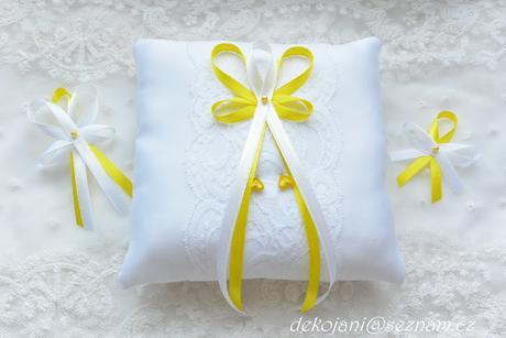 Svatební vývazky žluté,