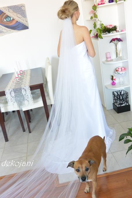 Svatební závoj tylový ,