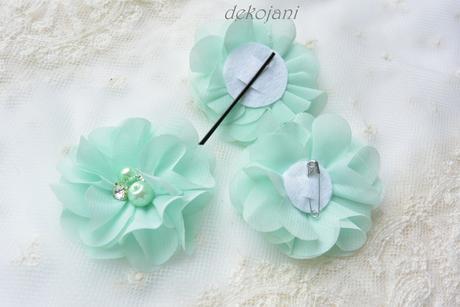 Zelený svatební polštářek,