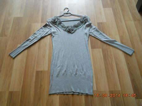 Pletené šaty s vysačkou, S