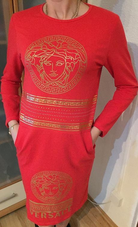 šaty versace červene l/xl nenosene, L