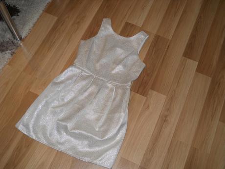 strieborne šaty 36/S, S