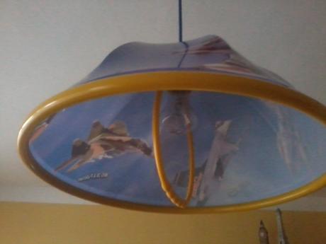 Detská lampa so stíhačkami,