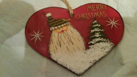 Sklenená vianočná dekoracia,