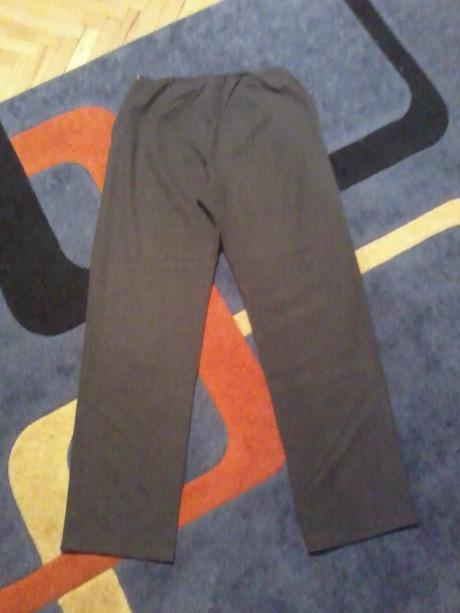 Tmavošedé elegantné nohavice, XL
