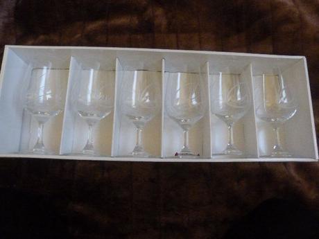 ručne brúsené poháre platina,