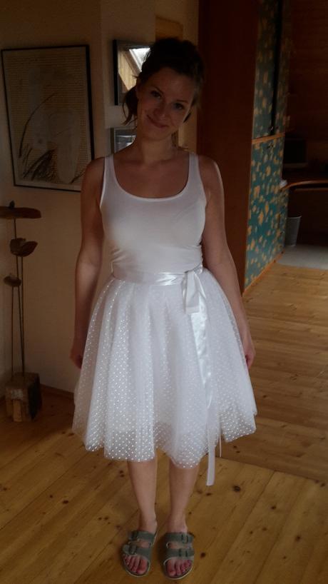 Dámská bílá tutu sukně, 38