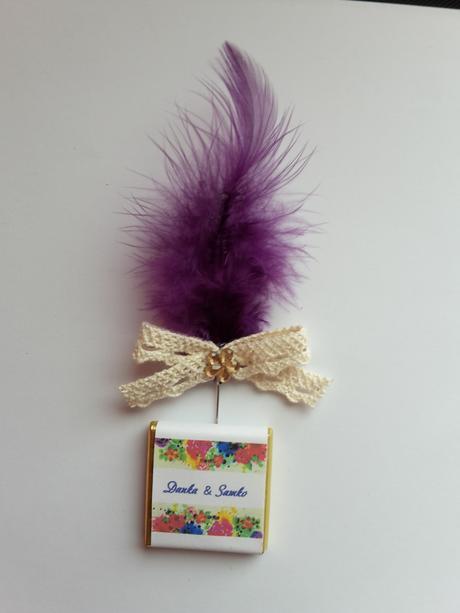 Svadobné mini čokoládky,