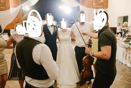 kremove, maslove svadobne saty s vreckami , 38
