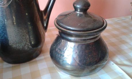 Hlinená čajová sada,