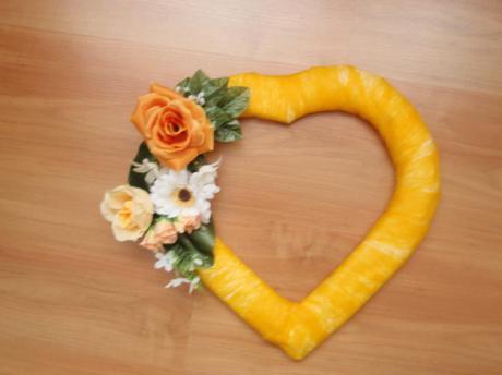 Srdiečka oranžovo-marhuľkové,