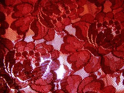 Červená elastická čipková blúzka- Madonna,, 38