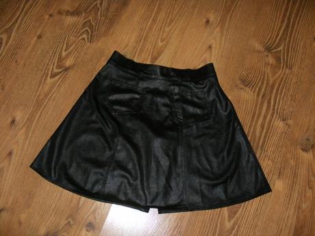 Tenká lesklá sukňa na zips, 36