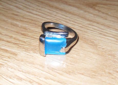 prsten s modrým kamenom-nenosený,