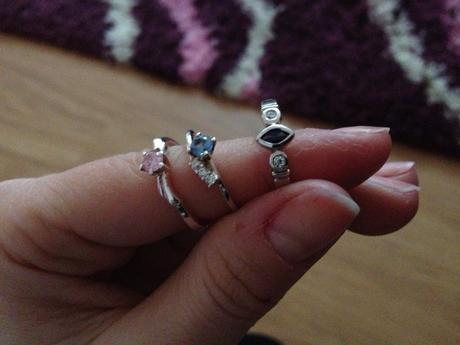 Strieborné prstienky,