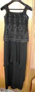 Čierne šaty s odnímateľným topom, 38