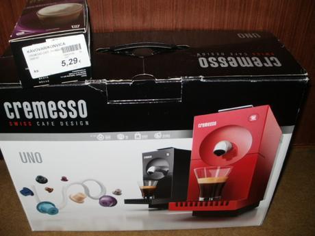 Nepoužitý kavovar Cremesso+ kapsule,