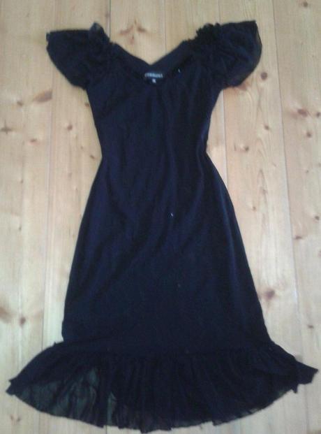 čierne carmen šaty, S