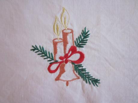 Sada vianočných nepoužívaných obrusov - 5 ks,