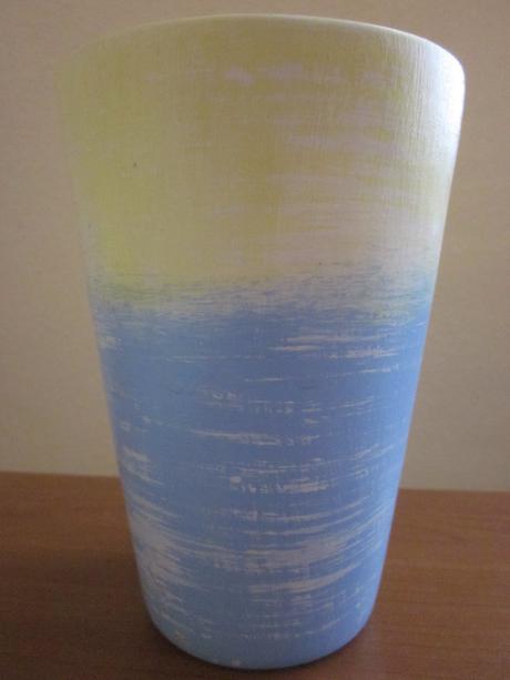 Váza modro-žltá,