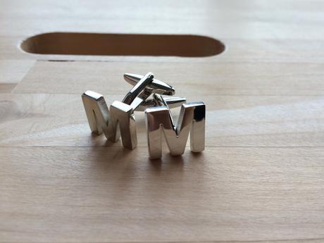 Manžetové knoflíčky - pár písmen M,