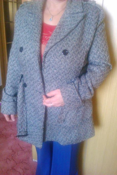 Kabát šedý , XL