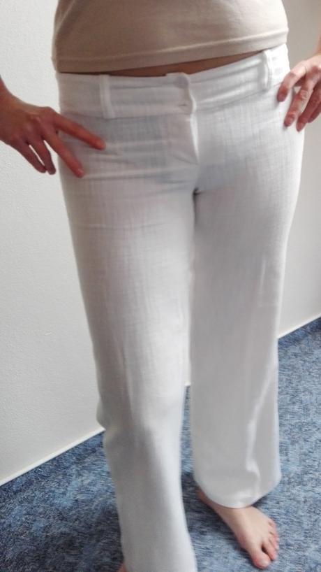 Kalhoty bílé , 36