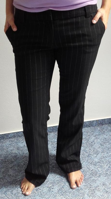 Kalhoty proužkaté , 38