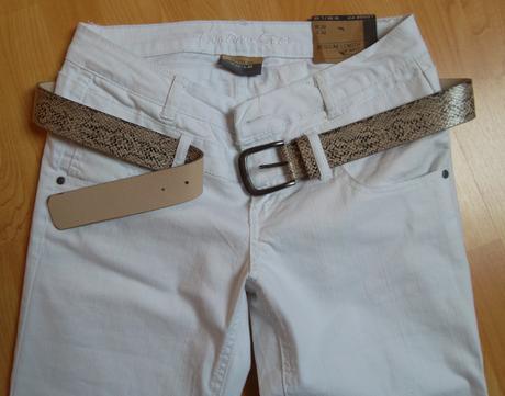 Kalhoty s páskem bílé , M