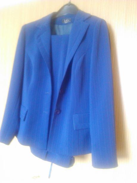 Kostým kalhotový modrý , 40