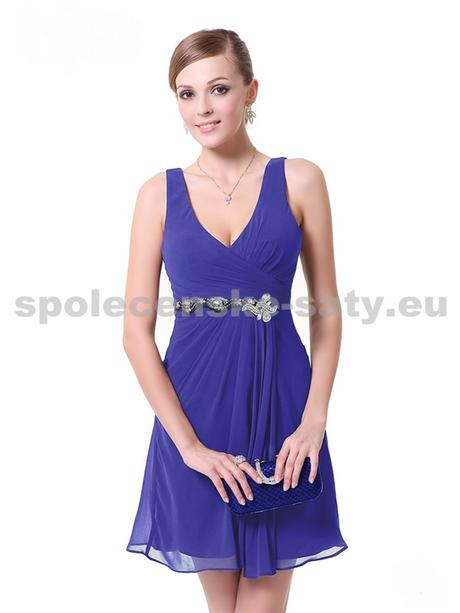 Modré krátké šaty se zdobením, 38