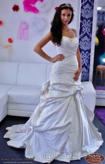 svadobné šaty champane farba, 36