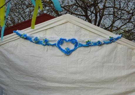 Modrý set na svadobnú výzdobu,