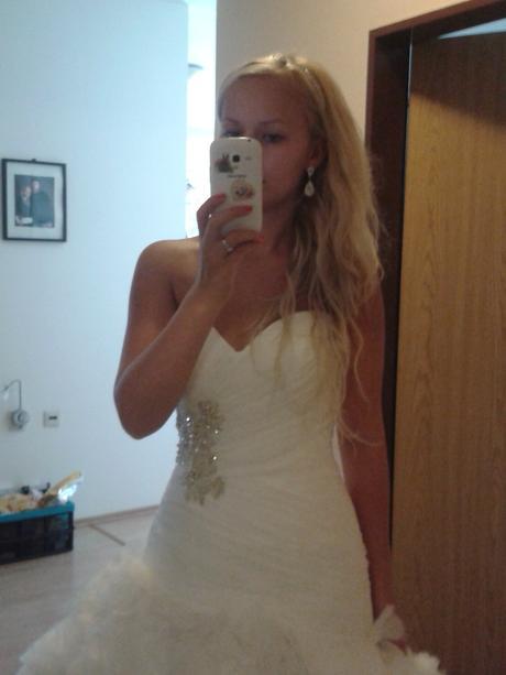 Nádherné svadobné šaty zn. ALLURE BRIDALS , 34