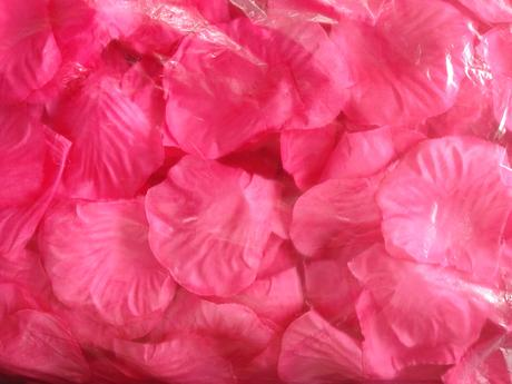 Plátky květů 1000 kusů - růžové,